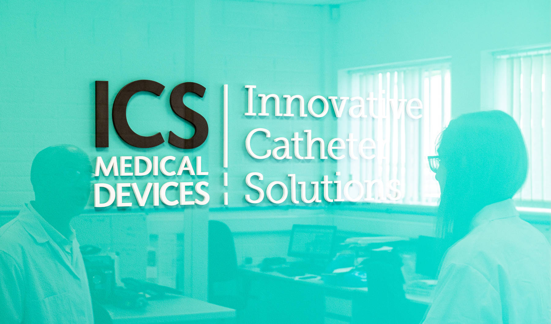 ICS Medical Device Branding inside offices